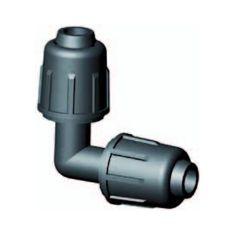 Raccord coudé à compression 90° tuyau goutte-à-goutte 16 mm
