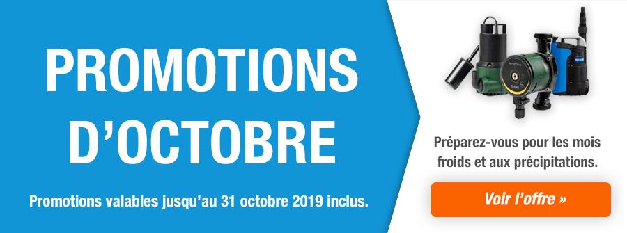 Promotions d'octobre